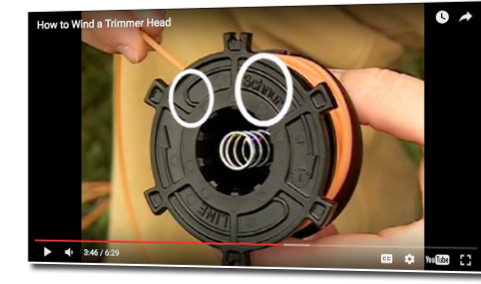 how to wind a Stihl trimmer