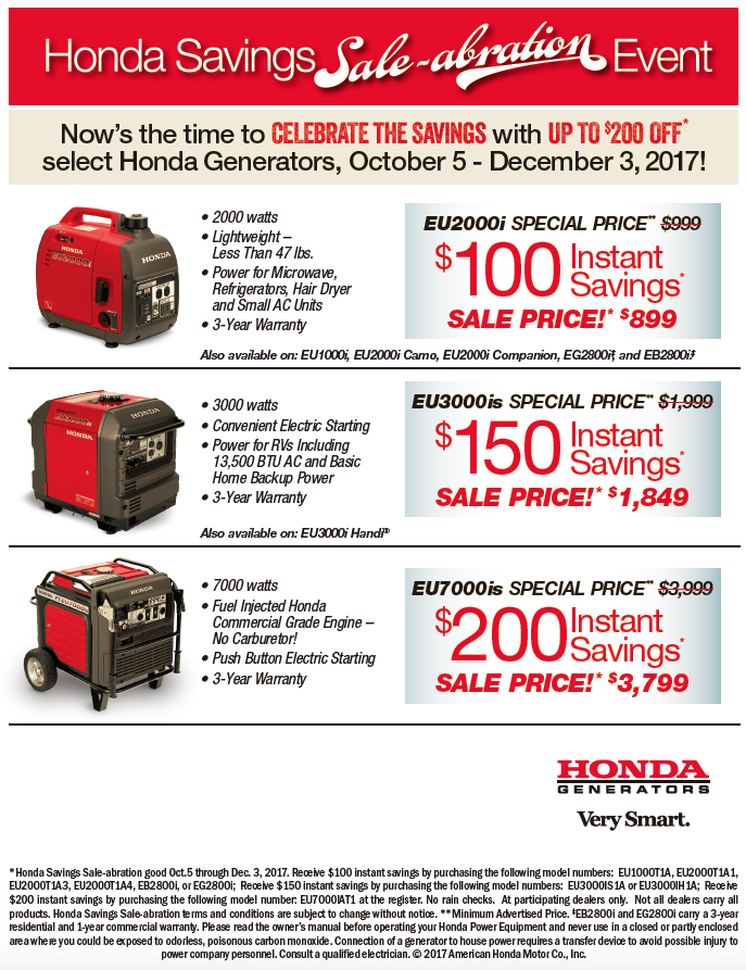 Honda Generator Sale